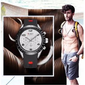 Relógio Curren Modelo 8167 Quartzo Sport Masculino Aço Inox
