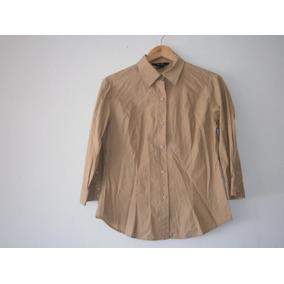 Blusa Para Dama Zara Basic, T- 30 Grande, Color Cafe