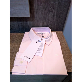 870787608451b Camisa Lacoste Feminina Rosa Manga Longa - Nova E Original