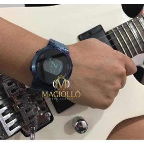 13adcfecf4e Relógio Feminino Digital Azul Eubj3279ac 4a Euro - Original