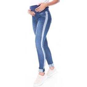 Calça Jeans Gestante Skinny Sarah Azul