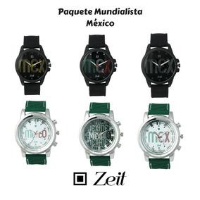 Paquete De 6 Relojes De Hombre Mundialistas México Zeit