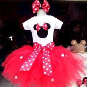 Disfraz De Minnie Mouse Con Tutú, Pantiblusa Y Orejas