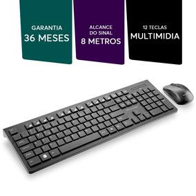 Teclado + Mouse Usb Wireless Preto Multilaser Tc212+ Brinde