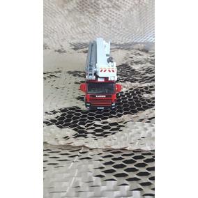 Miniatura Caminhão De Bombeiro Vermelho Cod - 00288