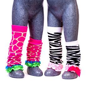 Calentadores Niña Calcetas 2 Pares Animal Print Baby Room