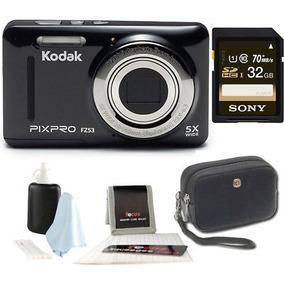 Ambiente Pixpro Kodak Zoom Fz53 (negra) + Sony 32gb Clase 10