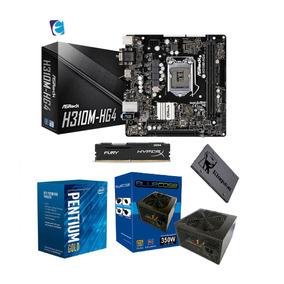 Kit Intel Pentium G5400 H310m Hg4 8gb Fury Ssd120 Bc350 I