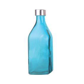 Garrafa De Vidro Scotch Azul