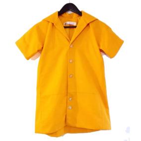 Hermosa Gabardina Amarilla Niña Talla 3-4 Diseñador Aldicci