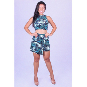 Conjunto Short E Cropped Dultty 35943 - Asya Fashion