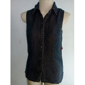 Camisa Regata Jeans Feminina Verruma Tam P 9493b25eb0a