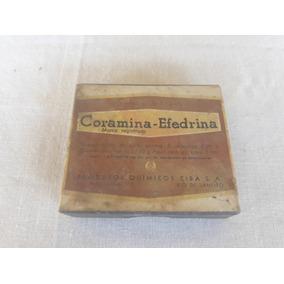 Propaganda Antiga Remedio Coramina Efedrina Com Bula E Selo