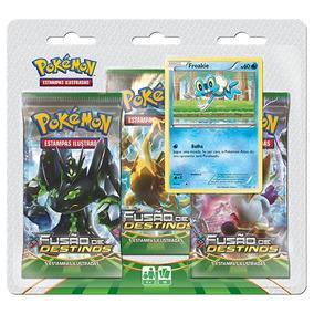 Pokémon Triple Pack Fusão De Destinos Froakie Xy10