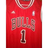 Camisa Chicago Bulls Vermelha Rose no Mercado Livre Brasil 335c77ddc9e