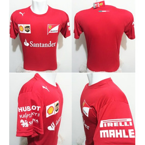 f33896067b624 Camiseta Scuderia Ferrari Santander Formula 1 Vermelha Sa1v