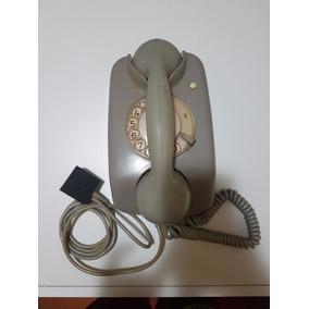 Telefone Antigo Siemens Cinza,parede Década 70,