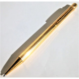 Pluma Boligrafo Cartier Trinity Chapa Oro24k $4700 Con Envio
