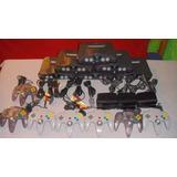 Nintendo 64 Con Sus Cables Y Control