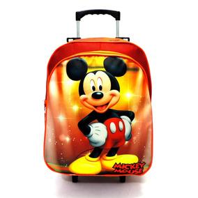 Mochila Escolar Infantil Mickey Mouse Rodinhas Tam G F5