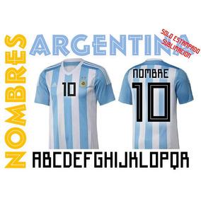 Nombre Camiseta Argentina Para Estampar Mundial Rusia Sublim 01d467a03aeb0