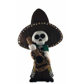 Calavera De Fieltro Charro Mexicano Adorno Día De Muertos 875406946e1