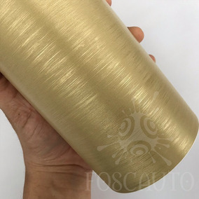 Adesivo Aço Ouro Escovado Inox Geladeira Moveis 1m X 50cm