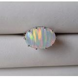 f5a69e68b12 Anel Opala Fogo Aurora Boreal Reflexos Irizado Aro 19