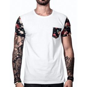 3d189e2b531d9 Camiseta Masculina Swag Oversized Camisa Floral Verão 2019