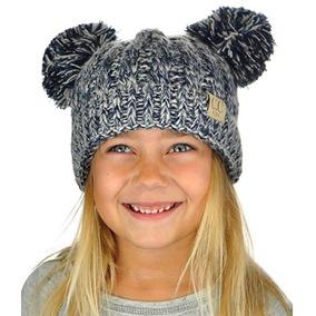 Gorro De Invierno Para Niñas Y Niños Con Pompones Tone Navy2 df8174417c4