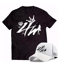 fa2da31bef Kit Camiseta 100% Algodão + Boné 4m Fank Qualidade Promoçaõ