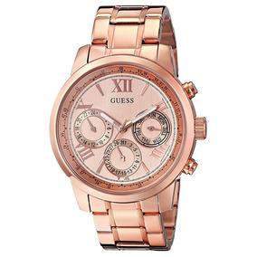 Reloj Análogo Marca Guess Modelo: U0330l2 Color Oro Rosa Par