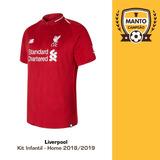 Kit Infantil Liverpool 2018 2019 Home Uniforme 1 Salah Mané 05a2045b9cb23