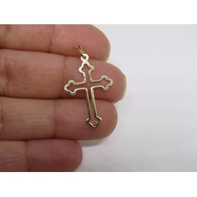 8f1c99b199357 Pingente Ouro Crucifixo - Pingentes de Ouro no Mercado Livre Brasil