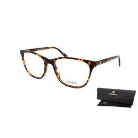 90b2609ccabdc Armação Oculos Grau Feminino Chanel Ch5986 Acetato Premium