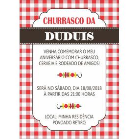 Churrascaria Convites No Mercado Livre Brasil