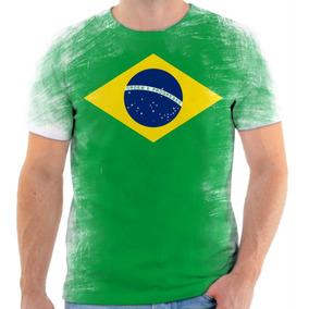e8b3903c62 Camiseta Bandeira Brasil - Camisetas Manga Curta para Masculino em ...