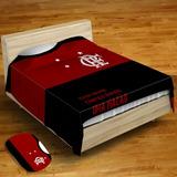 4108831c7a Colcha De Solteiro Flamengo C  1 Fronha + Tapete