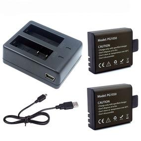 2 Baterias Originais 1050 Mah + Carregador Duplo