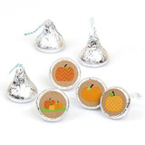 Pumpkin Patch Fall Y Halloween Round Candy Sticker Favors