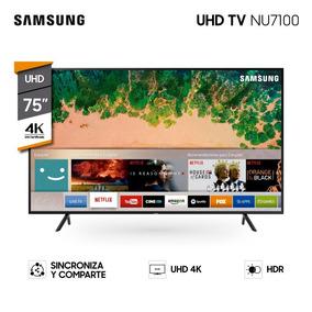 Tv Led Samsung Smart 75 4k Un75nu7100 Garantía Oficial