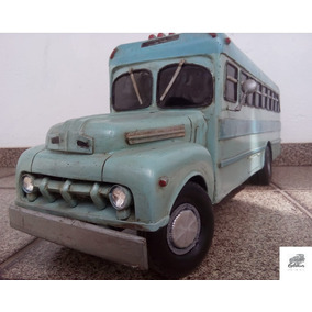 Miniatura De Carros Antigos Metal Ônibus Ford 1951