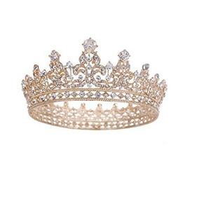 Tiara Nupcial De Boda O 15 Años De Cristal De Circón Corona