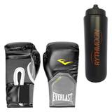 5de2fe39d2 Kit Luva Boxe Elite Pro Style Everlast Preta 08oz + Squeeze