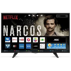 Smart Tv Led 32 Aoc Hd, Wifi Netflix 3 Hdmi 2 Usb Tv Digital