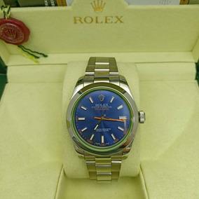 0acb8dd3c9c Relógio Rolex Milgauss Silver Blue