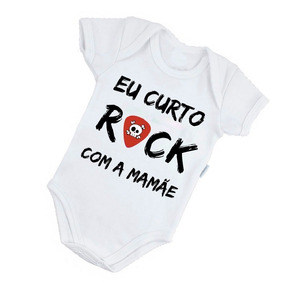 Body Rock Eu Curto Rock Com A Mamãe Rock Classico - Roupas de Bebê ... 264624a8fa8