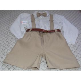 Conjunto Infantil De Bermuda Camisa Social Festa Aniversário