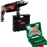Taladro Percutor Skil 6060 13mm Maletin + Kit 30 Pzas Bosch