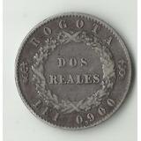 Moneda República De La Nueva Granada 2 Reales 1851 Plata